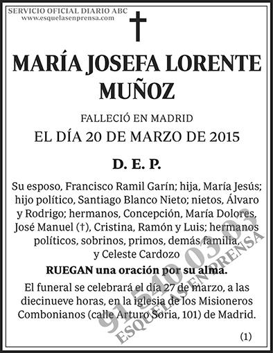 María Josefa Lorente Muñoz